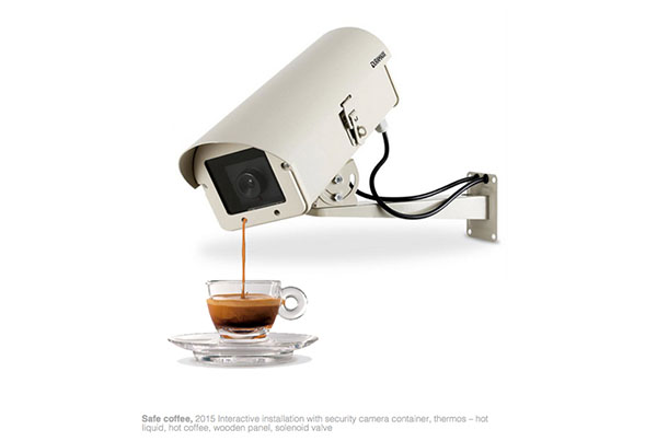 Safe coffè, Interactive installation